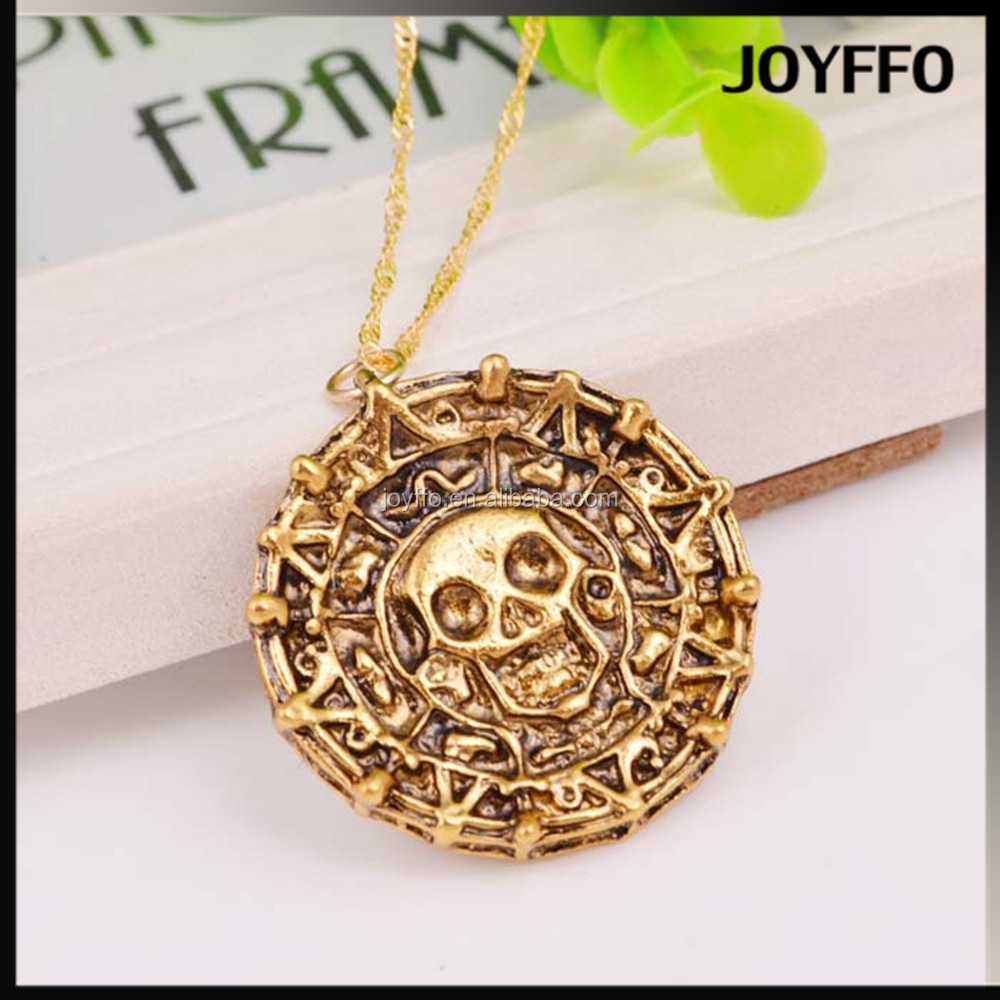 Pirates of the Caribbean Aztec gold necklace for men