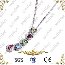 2014 new wholesale fashion cz stone pendant necklaces