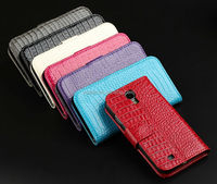 High Quality Wallet Cover 4.3 inch Leather Case for Samsung s4