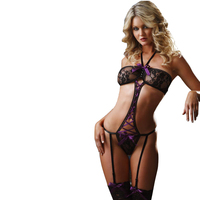 Factory Direct Sales See Through Sexy Lingerie Women's Three-point Bikini Sexy Bra Temptation Piece Suit Women Hot Sexy Lingerie