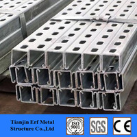 galvanized strutted support steel c channel ,soalr panel mounting brackets steel