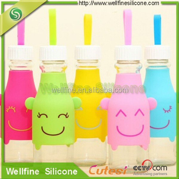 Loving softness silicone glass bottle protect case