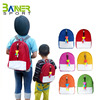 2017 hot sale candy color kids cartoon school backpack