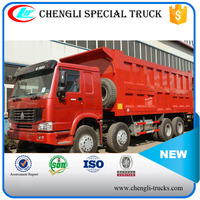 china supplier 56 tons loading 28cbm dump body 12 wheels 8*4 type 371hp SINOTRUK HOWO tipper trucks