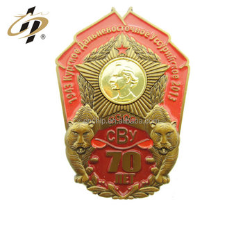 Wholesale zinc alloy custom 3D souvenir metal military badge