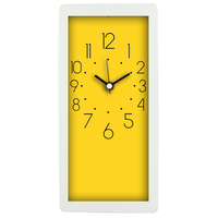 "10"" colorful cheap hard plastic table clock small"