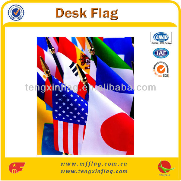 Different Kinds Polyester Mini National Desk Flags