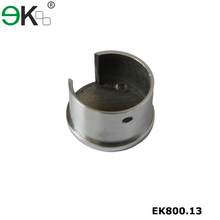 Stainless steel pipe fitting round single slotted tube end cap