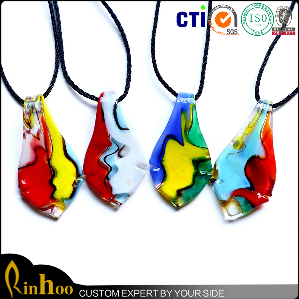 Set small and exquisite, cute and fashion at an organic whole high quality lampwork glass pendant necklace