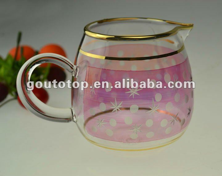 tea set/50101/100%purity gold/hand making decoration/tableware