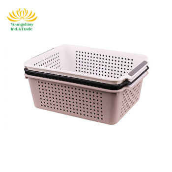 OEM design eco-friendly kitchen storage plastic fruit basket