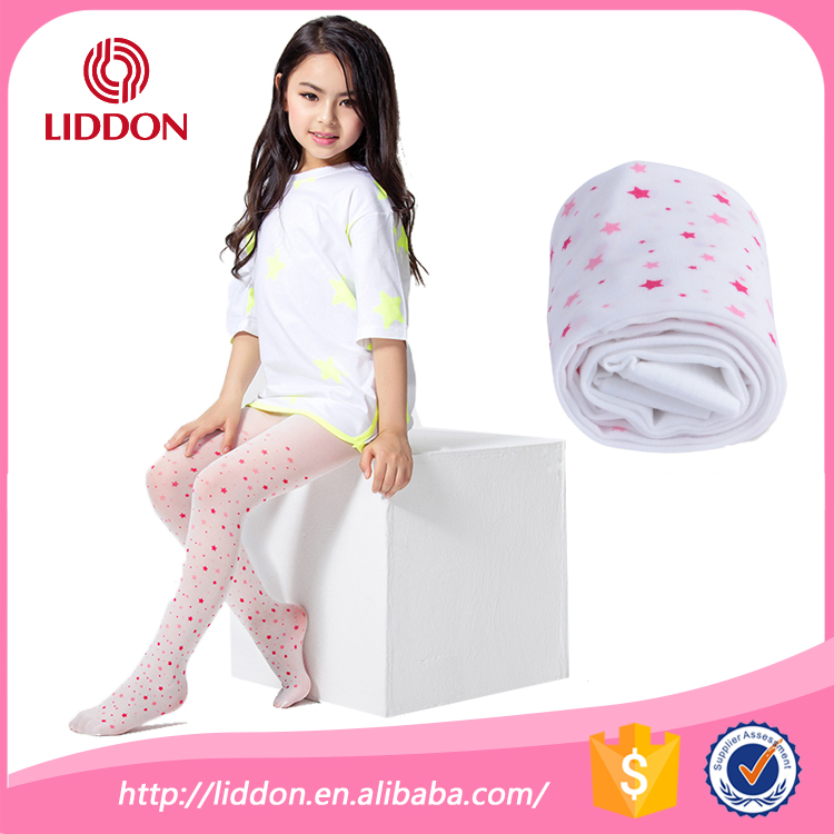 2015 New style girls printed star fitness leggings nylon silk pantyhose for kids