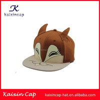 high quality animal face with ear funny children snapback caps