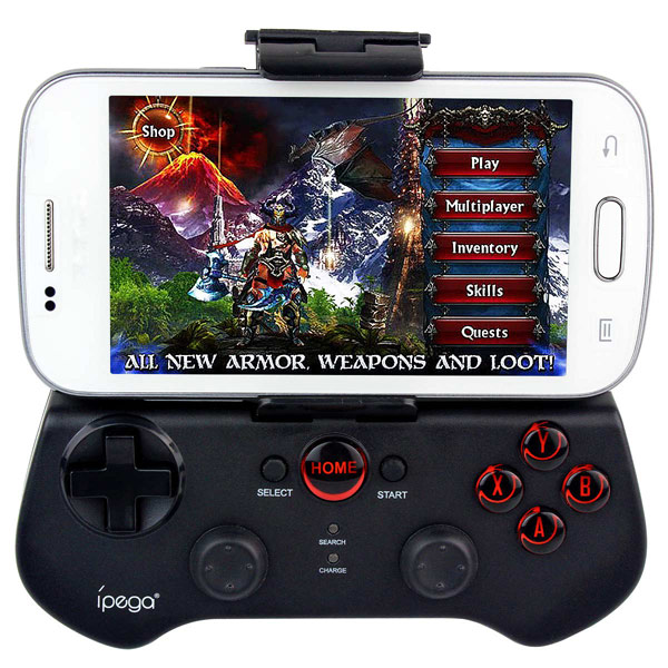 Ipega PG-9017S Gaming Bluetooth <strong>Controller</strong> For iPhone iPad Samsung HTC Moto Android Tablet PCS Gamepad Joystick PS3 Black New