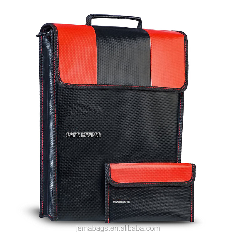 New Large Safety Fire Resistance Document Bag Safe Keeper Fireproof Money Bag 2pcs Home Fireproof Safe Storage