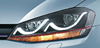 Cool designVolkswagen Golf7 modified headlamp with LED DRL 12 voltage 2014year design is smile design