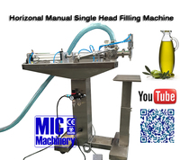 Chinese GMP Standard MIC one head manual olive oil filling machine and oil bottle filling machine price
