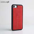 Red Color Python skin Case for iphone case luxury mobile phone case