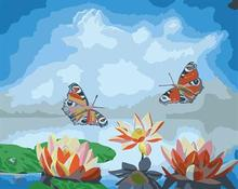 flower and butterfly design canvas oil painting kit painting for beginners set GX6583