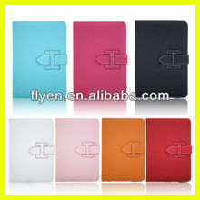 Leather Bucle Wallet Flip Case for iPad MINI Magnetic Full Sleep Wake UP Function Factory Wholesale Hot Sell New