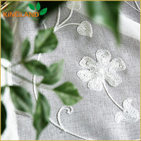 Shaoxing factory woven embroidery cotton rope curtain fabric