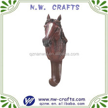 Resin wild horse decorative wall hook hanger