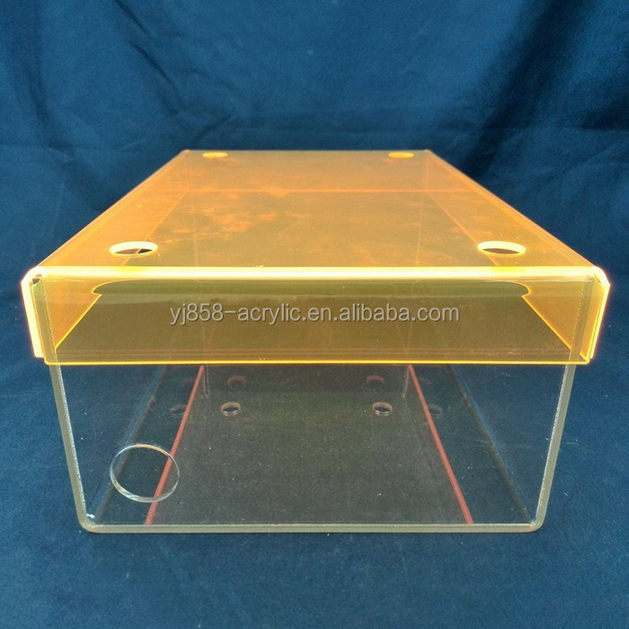 China supplier wholesale price acrylic shoe box for Nike brand