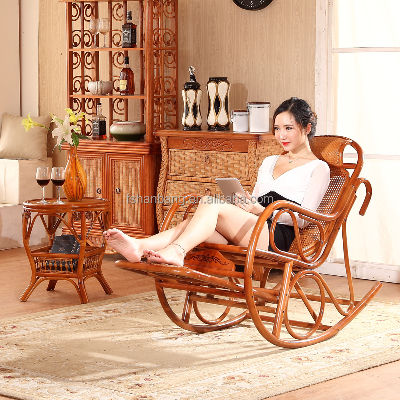 Stock Foot Massage Flat Pack Cane Wood Rattan Antique Wicker Rocking <strong>Chairs</strong> for Sale