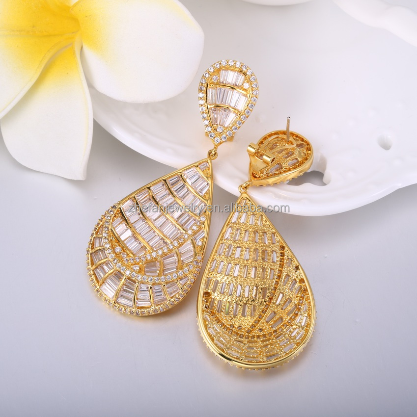 Top Quality gold locket pendant designs dubai gold jewelry earring