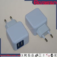 USB Charger White Color 5V 2A plug in charger, universal Android Tablet/Smart mobile phone