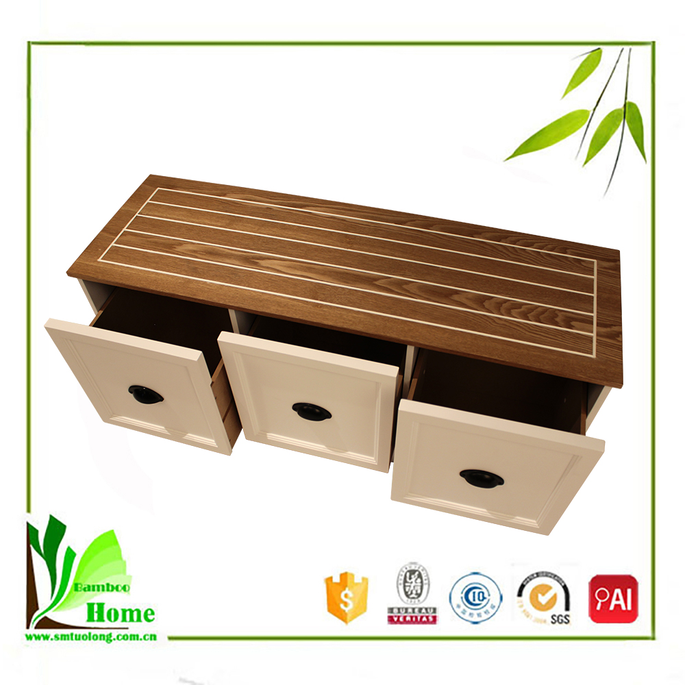 Stable Functional Stand Bamboo LED TV Stand Furniture With Showcase
