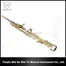 Wholesale Professional One Tube Straight Copper-nickel Alloy Soprano Saxophone, Vocational Wood Wind Instruments