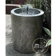 landscaping garden polished abstract mini water pool fountains light of 316 satinless steel