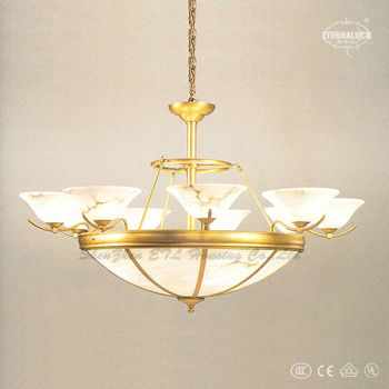 Fancy classic Hight quality white color indoor gold alabaster pendant lamps made in China ETL87077