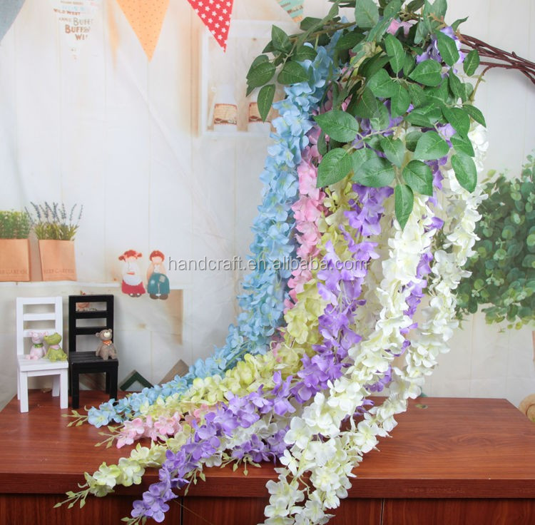 hanging artificial wisteria flower for wedding decorations artificial wisteria