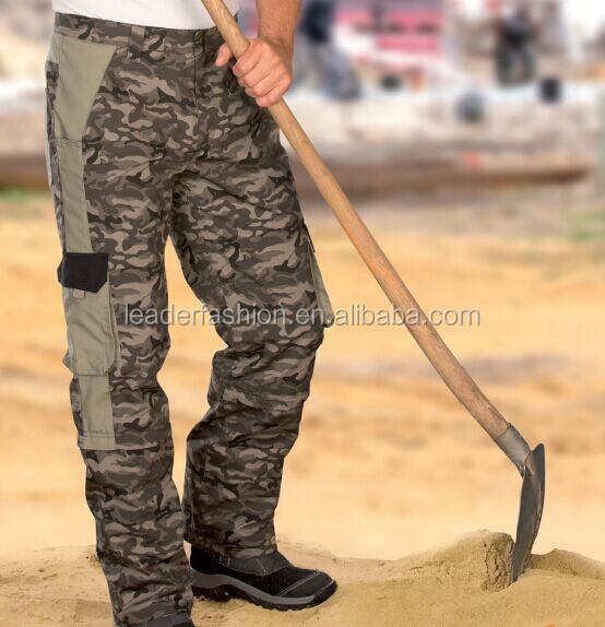 High Quality Camouflage Zip off Cargo Pants for Work