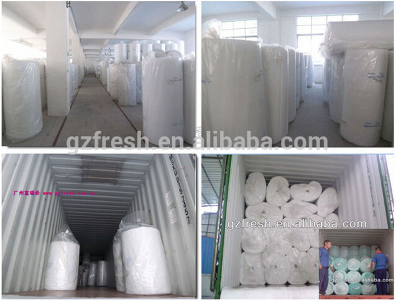 Foshan industrial equipment F5/EU5 polyester fiber roof filter cotton roll for spray booth celling filter
