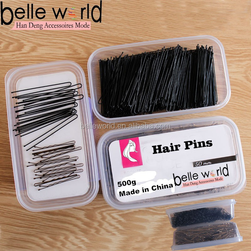 Factory Custom 500g Environmental plastic Box Metal Hair Pin