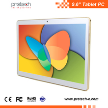 9.6'' 3G tablet MTK8321 quad core 1280*800 IPS 9.6 inch 3g phablet