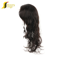 2013 5A grade fashionable brazilian body wave natural color full lace human hair wigs