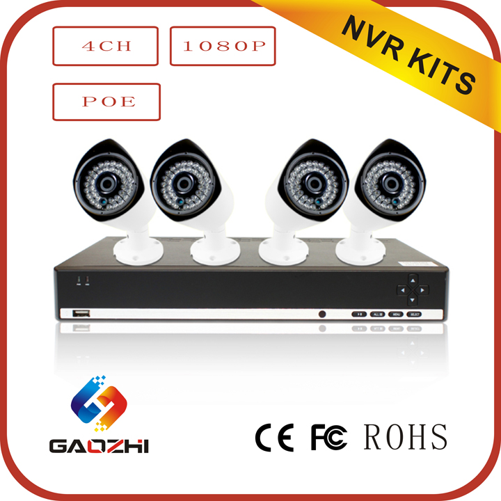 Full hd 1080p outdoor ip camera nvr kit surveillance nvr security system
