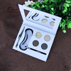 Eyebrow powder compacts oem palette with tweezer/brush and stencils