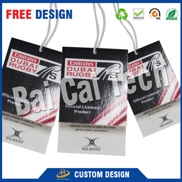 Top quality cheap custom factory made custom garment hang tags, paper hang tags