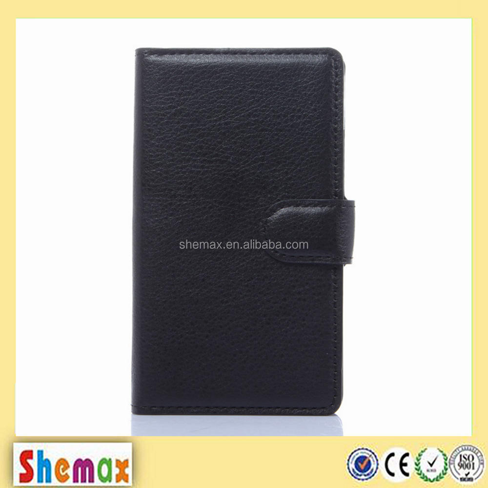 Wholesale price wallet leather flip case for zte blade g lux
