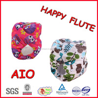 2016 happy flute waterproof hot popular night AIO cloth diaper