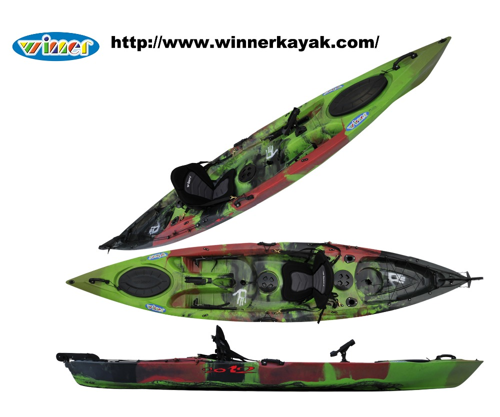 New design plastic single sit on top fishing canoe/kayak wholesale