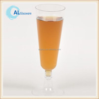 disposable plastic champagne drinking glass goblet