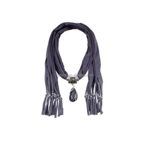 Plain Infinity Fringe Scarf Jewelry Pendant Scarf Necklace