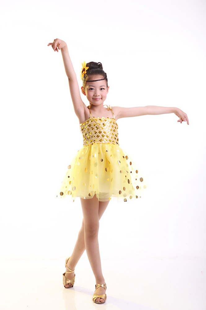 2017 the new children girls Latin/jazz dance skirt costumes/kids latin dance dress CJ-2017-001