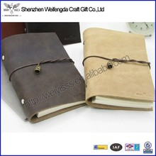 Top grade unique design handmade real leather cute diary for writing